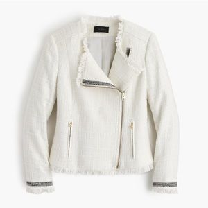 J. Crew Ivory Tweed Jacket